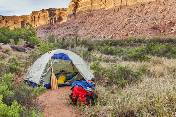 river camping in Canyonlands Stock photo © PixelsAway