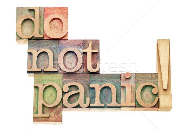 ストックフォト: しない · パニック · 警告 · 孤立した · 文字 · ヴィンテージ