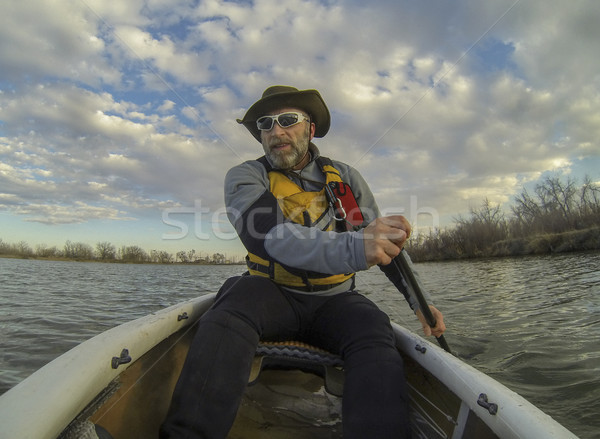 canoe paddling Stock photo © PixelsAway