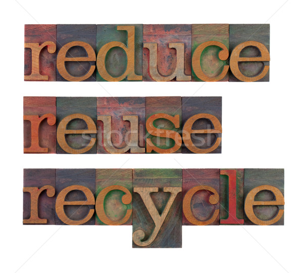 Photo stock: Recycler · ressource · conservation · mot · vintage · bois