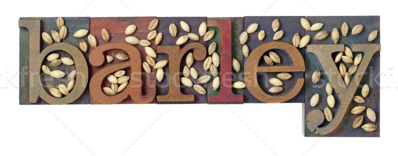 árpa szó gabona klasszikus magasnyomás nyomtatás Stock fotó © PixelsAway