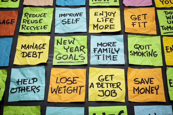 new year goals or resolutions Stock photo © PixelsAway
