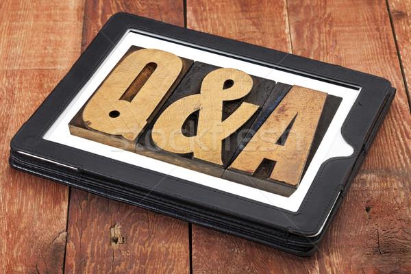Domande risposte vintage legno tipo Foto d'archivio © PixelsAway