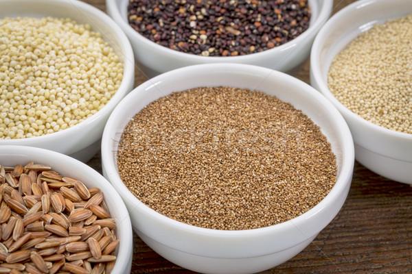 Gluténmentes gabona egyéb magvak barna rizs Stock fotó © PixelsAway
