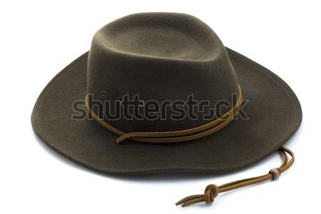 felt cowboy hat on white background Stock photo © PixelsAway
