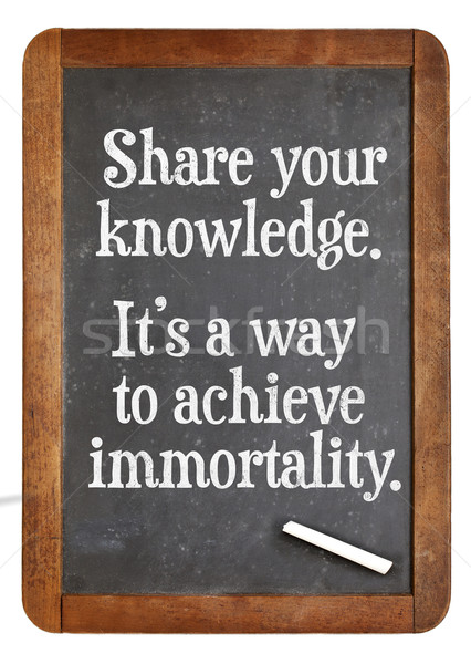 Share knowledge advice on blackboard Stock photo © PixelsAway
