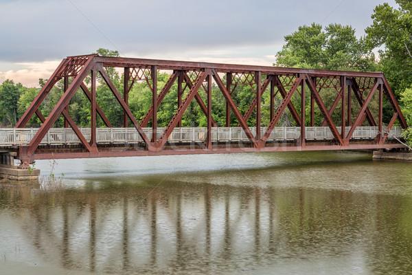 Sentier Missouri vélo abandonné chemin de fer Photo stock © PixelsAway