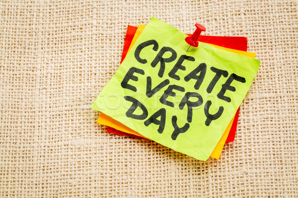 create every day reminder Stock photo © PixelsAway