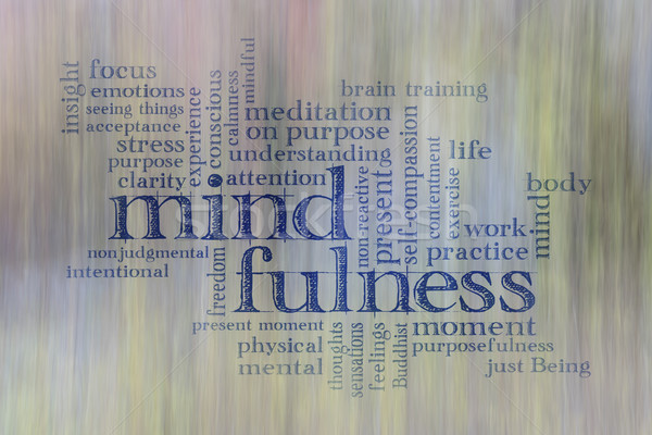 mindfulness word cloud Stock photo © PixelsAway
