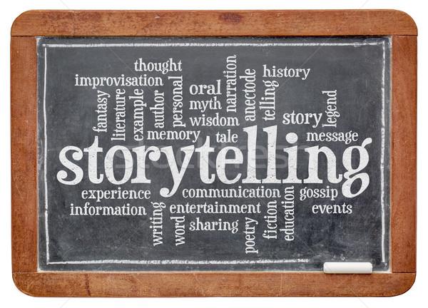 storytelling  word cloud Stock photo © PixelsAway