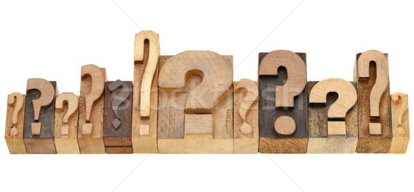 question marks Stock photo © PixelsAway