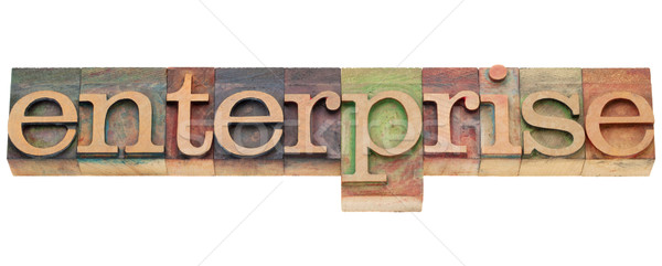 Empresa palavra tipo isolado vintage Foto stock © PixelsAway