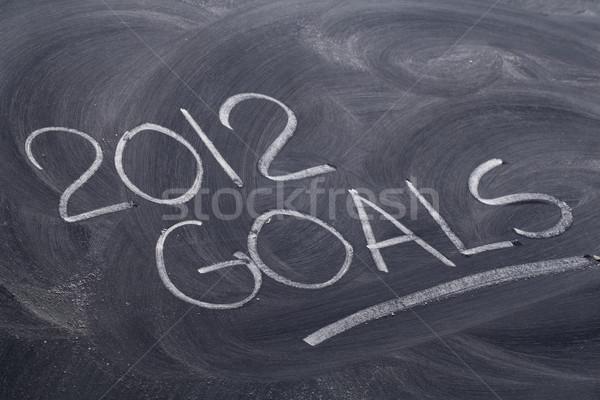 2012 goals on blackboard Stock photo © PixelsAway