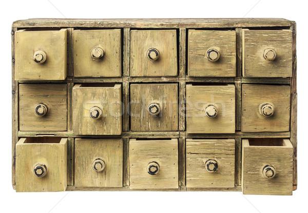 primitive drawer cabinet Stock photo © PixelsAway