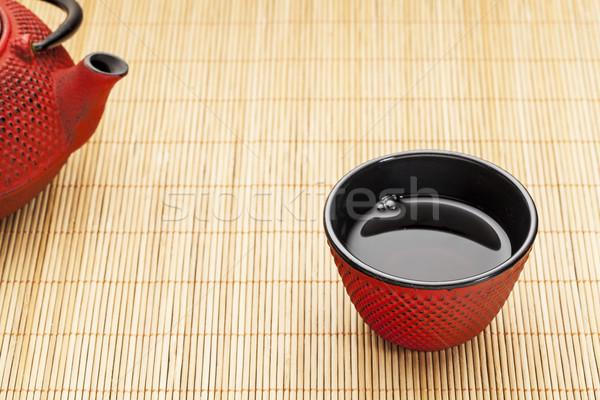 cup of tea with tetsubin Stock photo © PixelsAway