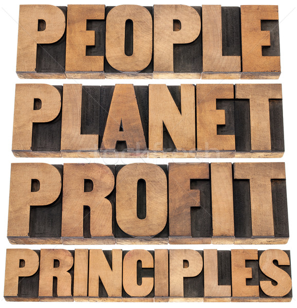 people, planet, profit, principles  Stock photo © PixelsAway