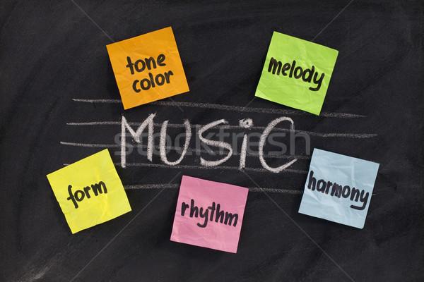 Tradycyjny elementy muzyki muzyka klasyczna harmonia melodia Zdjęcia stock © PixelsAway