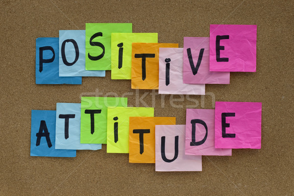 Attitude positive rappel coloré sticky notes Cork Photo stock © PixelsAway
