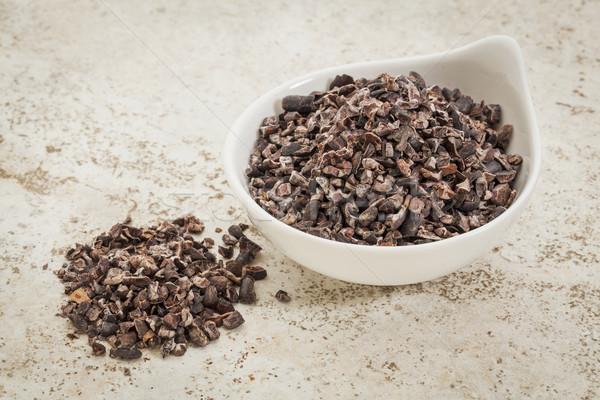 сырой какао небольшой керамической чаши плитка Сток-фото © PixelsAway