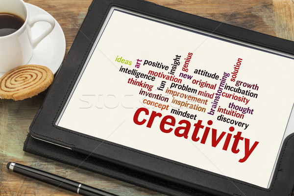 Stockfoto: Creativiteit · woordwolk · wolk · woorden · digitale