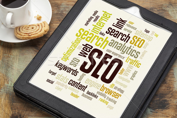 SEO word or tag cloud Stock photo © PixelsAway