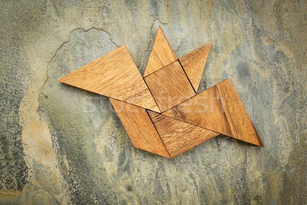 tangram bat abstract Stock photo © PixelsAway