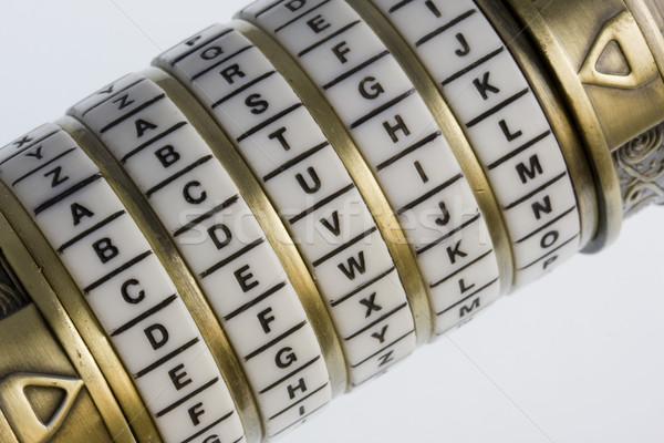 Diabeł hasło zestaw połączenie puzzle polu Zdjęcia stock © PixelsAway