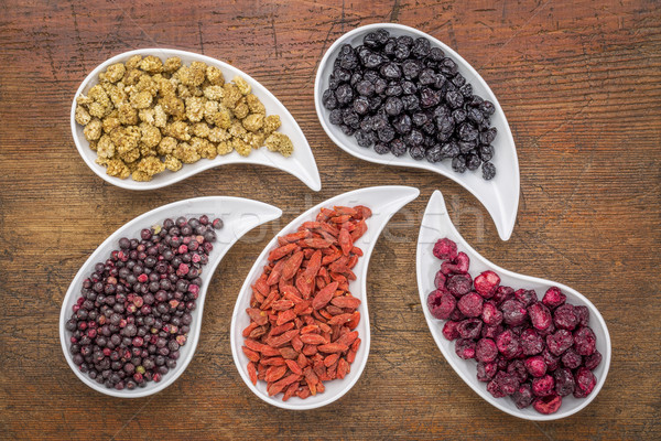 Stock photo: dried superfruit collection