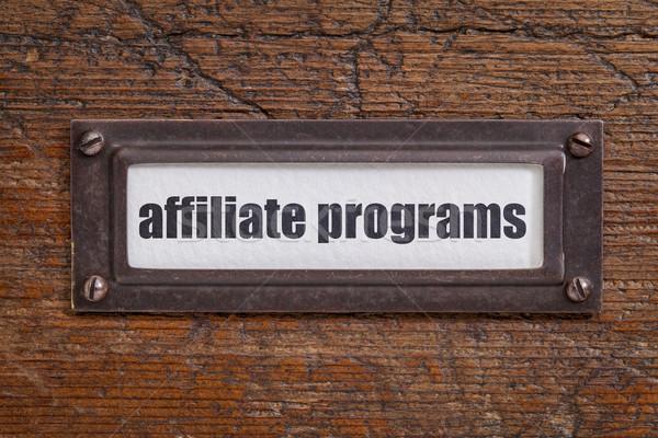 affiliate programs label Stock photo © PixelsAway