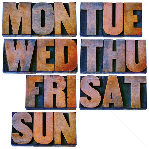 Settimana legno tipo 7 giorni primo Foto d'archivio © PixelsAway