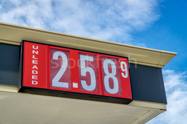 gasoline pricing sign Stock photo © PixelsAway
