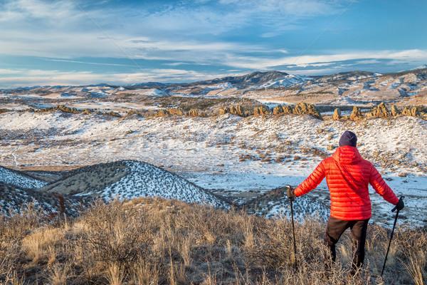 hiking Rocky Mountains foothills Stock photo © PixelsAway