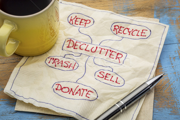 declutter concept on napkin Stock photo © PixelsAway