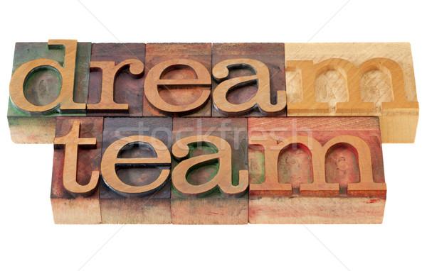 Stock fotó: álom · csapat · magasnyomás · csapatmunka · szavak