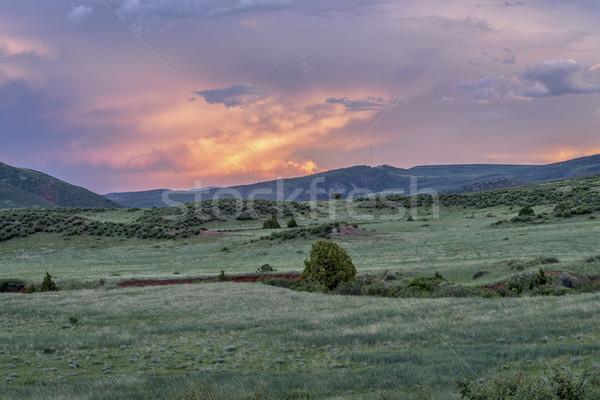 Schemering Colorado Rood berg Open ruimte Stockfoto © PixelsAway