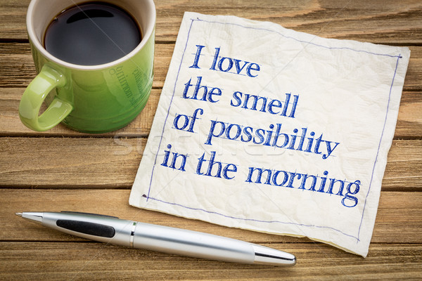 smell of possibility in the morning Stock photo © PixelsAway