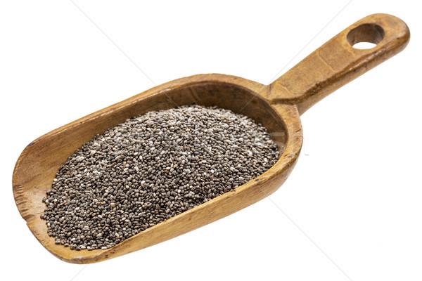 Rustique évider noir semences bois isolé Photo stock © PixelsAway