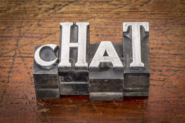chat word abstract in metal type Stock photo © PixelsAway