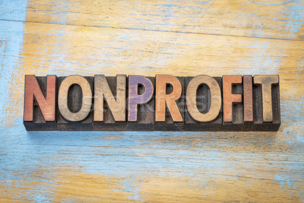 nonprofit word  in wood type Stock photo © PixelsAway