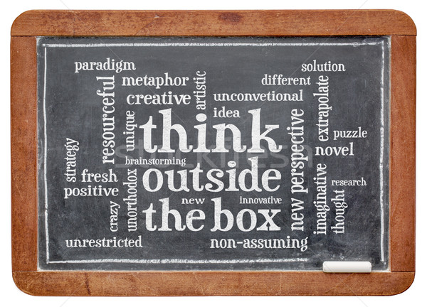 Think outside the box word cloud Stock photo © PixelsAway
