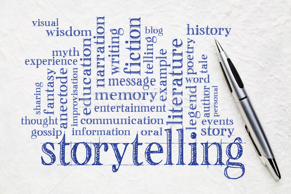 storytelling  word cloud on paper Stock photo © PixelsAway