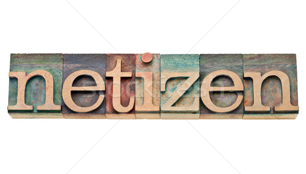 netizen - citizen of internet  Stock photo © PixelsAway