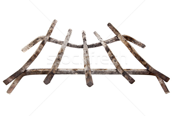 fireplace iron grate Stock photo © PixelsAway