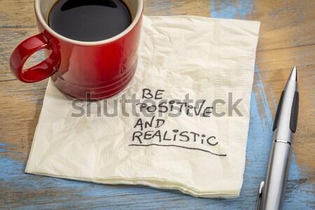 夢 やる気を起こさせる スローガン ナプキン ストックフォト © PixelsAway