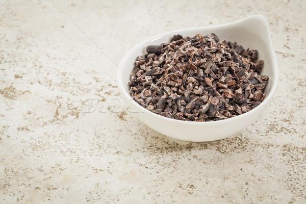 Kakao küçük seramik çanak karo Stok fotoğraf © PixelsAway