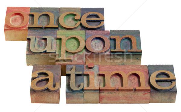 Tiempo hadas historia apertura palabras Foto stock © PixelsAway