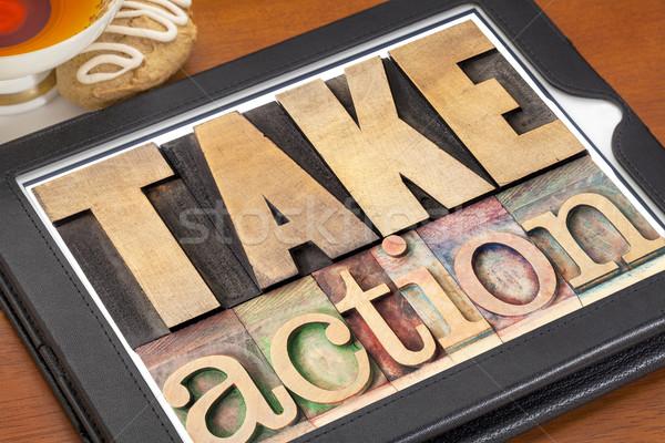 действий мотивация текста Vintage Сток-фото © PixelsAway