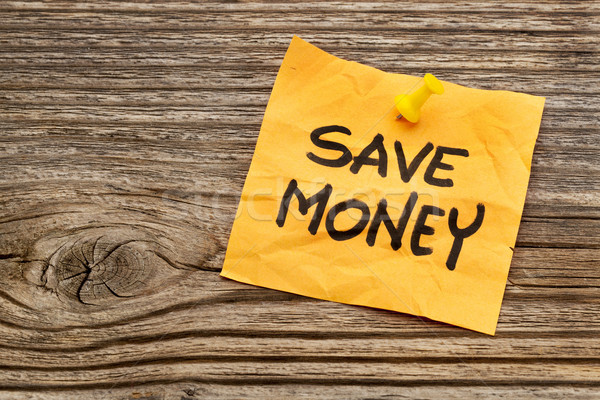 save money reminder note Stock photo © PixelsAway