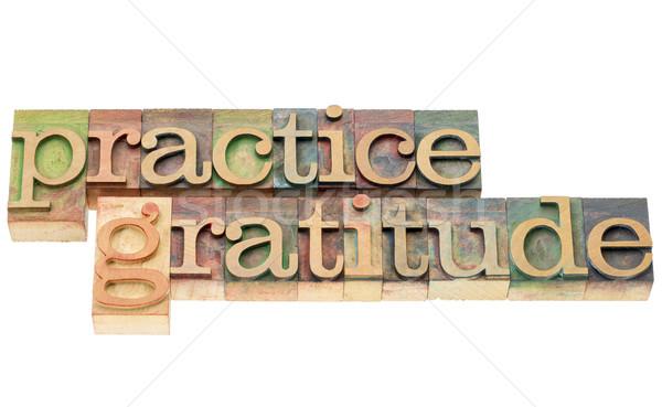 Gyakorlat hála fa izolált szöveg Stock fotó © PixelsAway