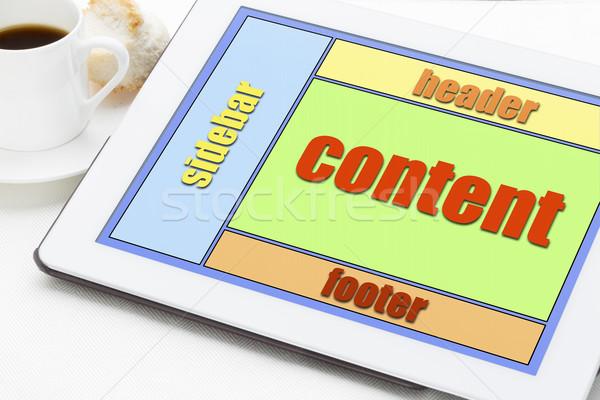 designing website layout Stock photo © PixelsAway